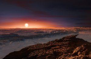 Künstlerische Darstellung von Proxima Centauri b