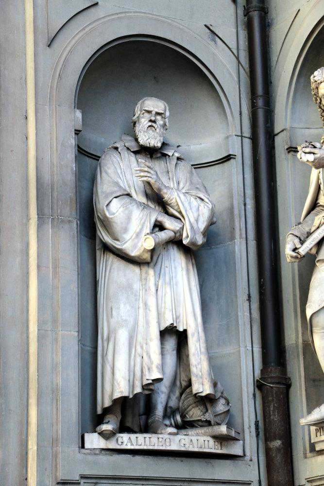 Die andere Seite der Galileo-Rezeption: Statue in den Nischen der Uffizien, 1830er Jahre
