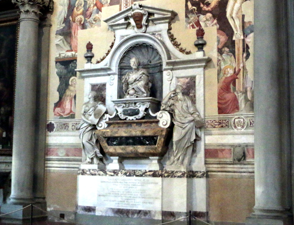 Galileos Grab in der Basilika Santa Croce