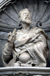 Rundbild von Galileo auf seinem Grab in Florenz