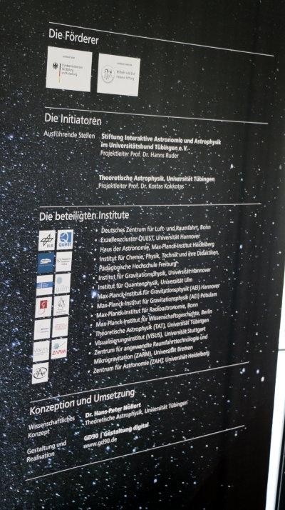 """Institutionen, die an der Ausstellung """"Einstein inside"""" beteiligt sind."""