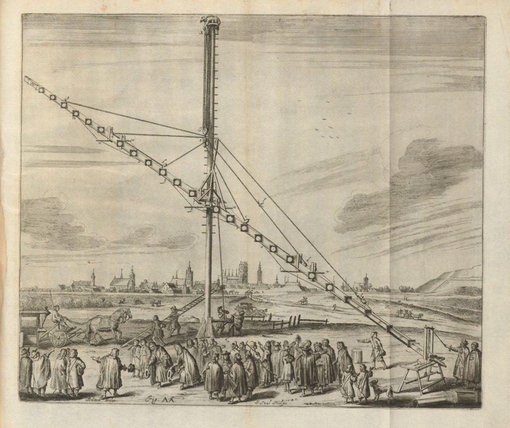 Große Teleskope, aber wacklig: Das 46-Meter-Teleskop von Johannes Hevelius