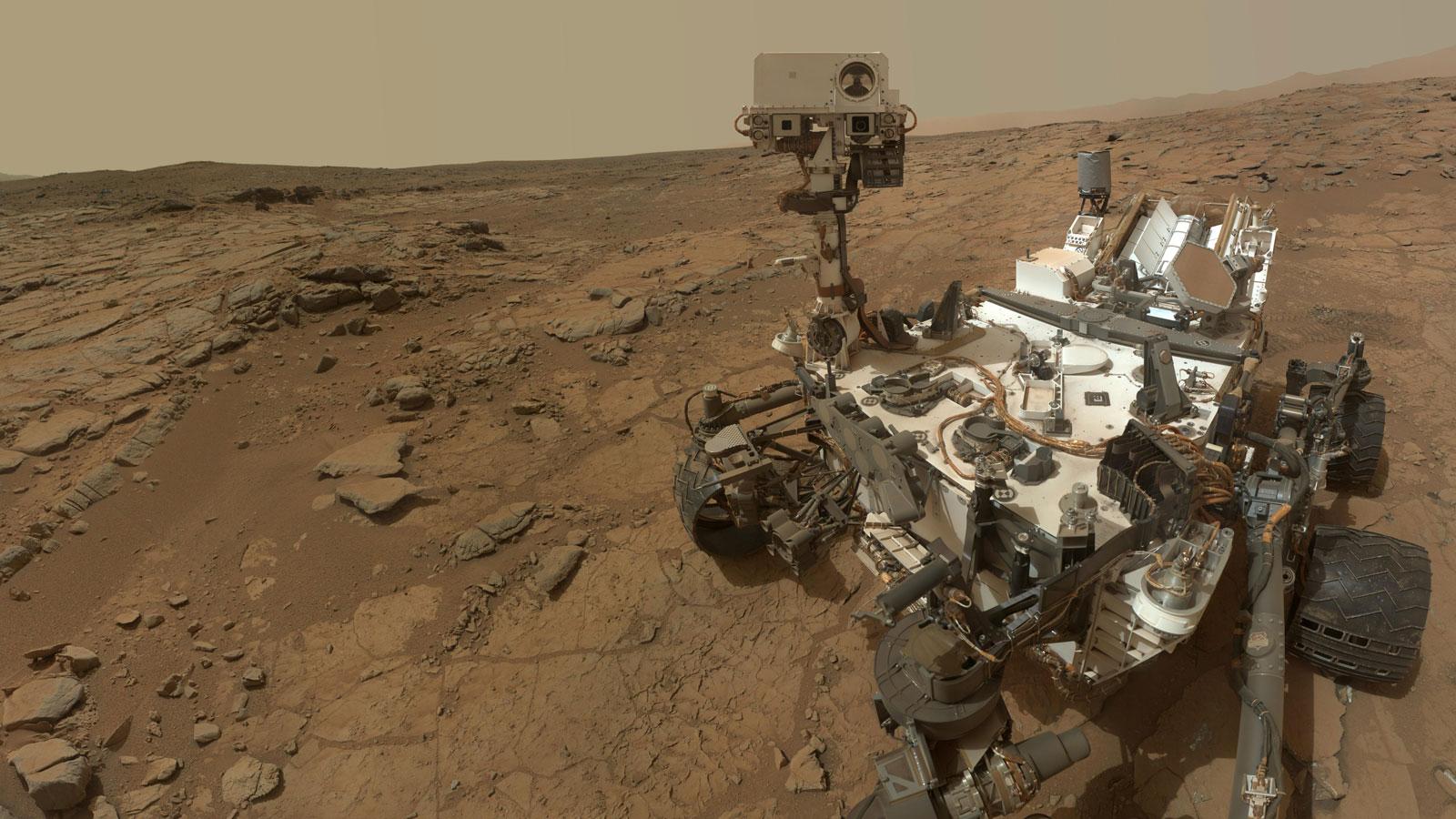 Selten, aber auch Teil der astronomischen Methoden: Marserkundung mit dem Rover