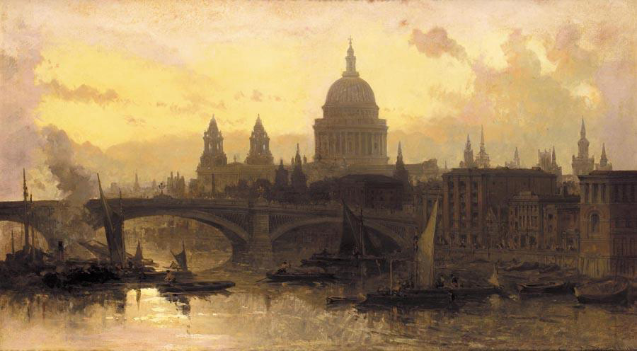 Saint Paul's Cathedral, David Roberts, 1863