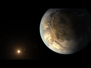Kuenstlerische Darstellung von Kepler-186 f