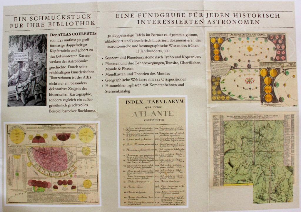 Flyer zum Doppelmayr Atlas gibt eine Impression, wie das historische Buch aussieht. (klick aufs Bild zeigt ihn lesbar)