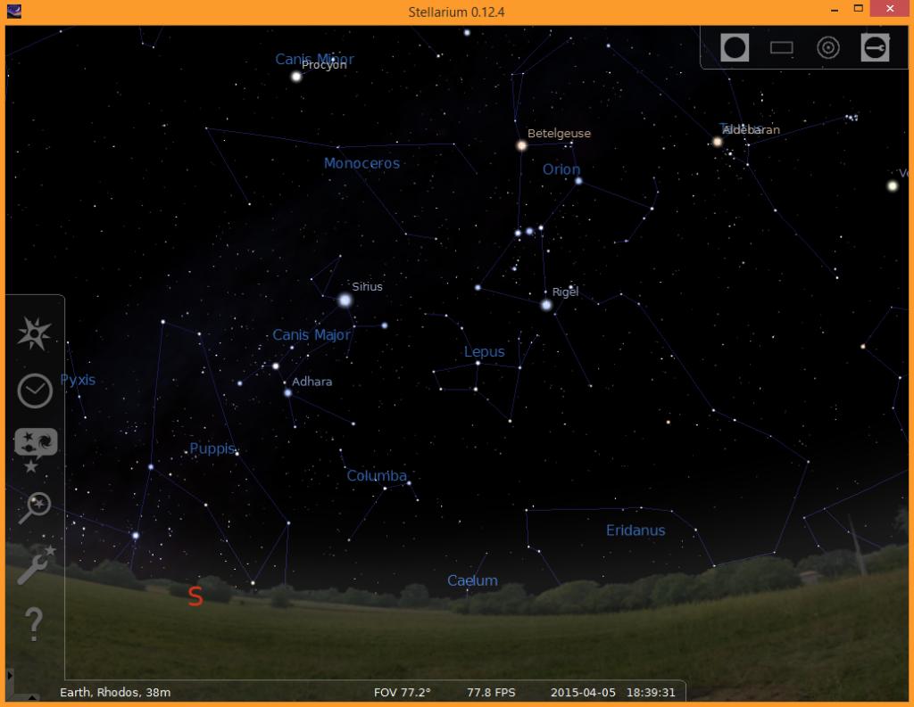 Sternbild Hase (Lepus) heute Abend am Himmel.