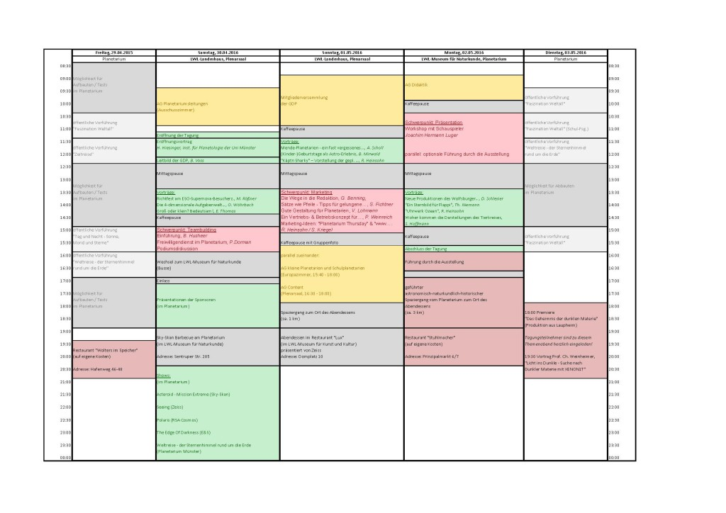 Tagungsprogramm (vergrößerbar)