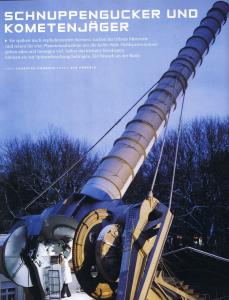 Auf jeder dritten Eintrittskarte der Sternwarte finden Sie ein Bild, auf dem ich abgebildet bin (nur, damit man einen Eindruck von der Größe des Riesenfernrohrs kriegt).