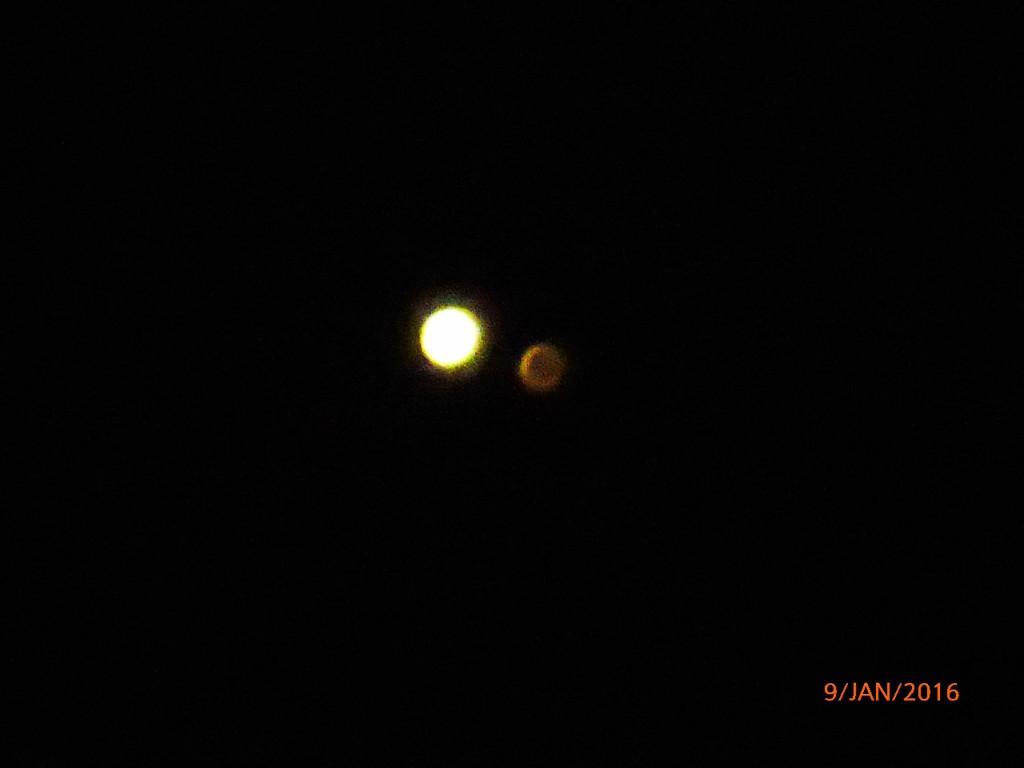 schon eine einfache Kamera konnte die beiden Planeten auflösen; credits: Cordula Bachmann (Berlin)