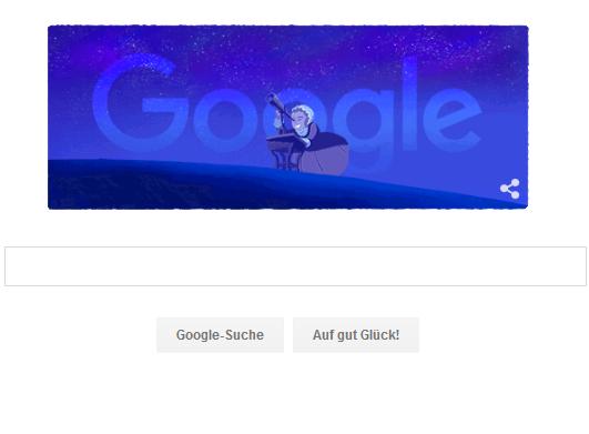 Google-Doodle im memoriam an Caroline Herschel