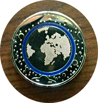 Die erste 5 Euro-Münze.