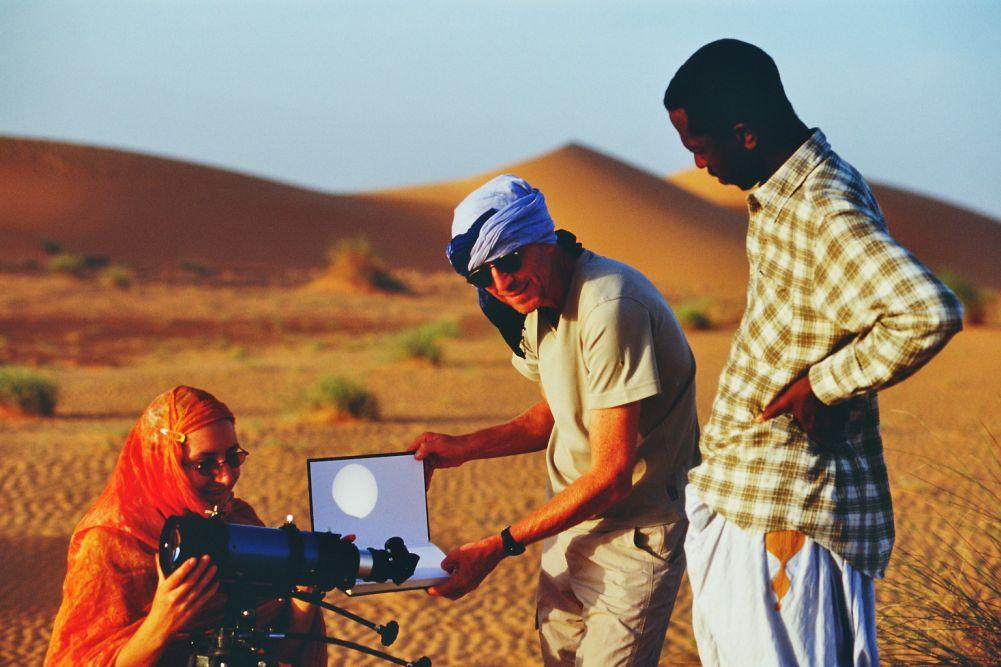 Kurz vor dem Merkurtransit am 8. November 2006 in Mauretanien.
