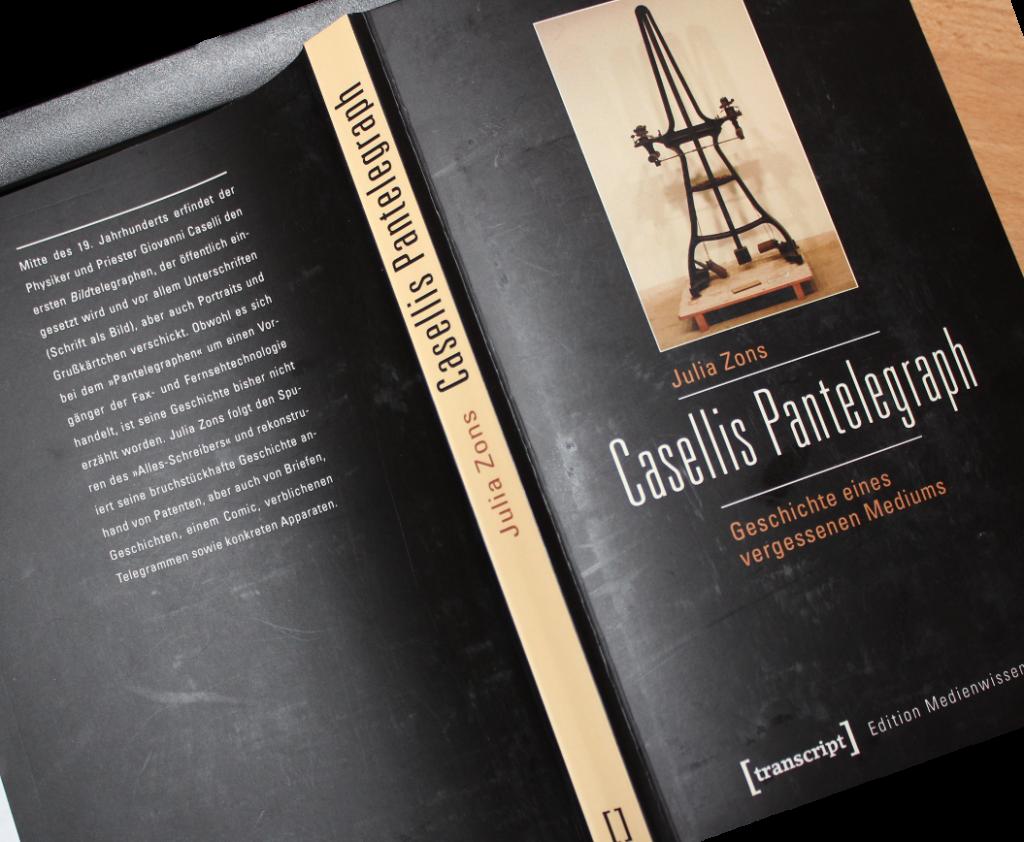Casellis Pantelegraph: Buchtitel von Julia Zons