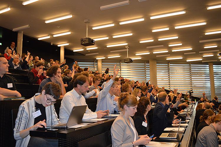 Konferenz Klimakommunikation in Salzburg, Ende September 2017. Foto: Heide Spitzer, CCCA