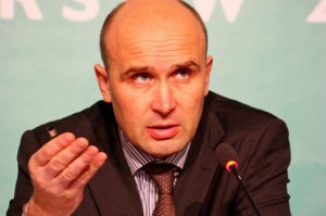 Marcin Korolec als polnischer Umweltminister und Veranstaltungspräsident auf dem Weltklimagipfel 2013 in Warschau.