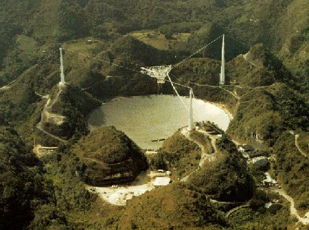 Arecibo-Radioteleskop, Bild: National Astronomy and Ionosphere Center, Cornell U., NSF