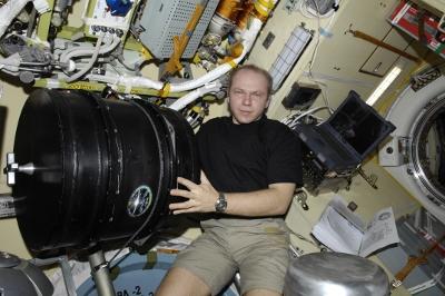 Oleg Kotov mit PK-3 Plus auf der ISS