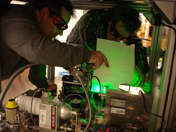 Beim Kalibrieren des Lasers
