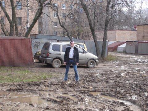 Peter Huber im Dreck in Korolov