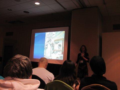 Sarah Strand während ihres Vortrags