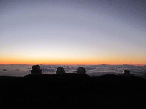 Sonnenuntergang vom Mauna Kea