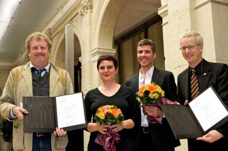 Til Mette, kittihawk, Oliver Weiss und Günter M. Ziegler (v.l.n.r - Foto: Kay Herschelmann/DMV)
