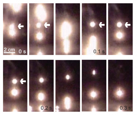 Kugelblitz - paper, hovering particles