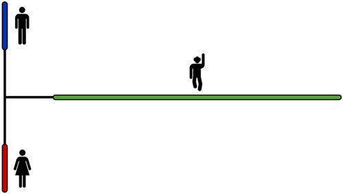 Genetische Distanz von Menschen und Schimpansen