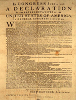 Amerikanische Unabhängigkeitserklärung (Druck von John Dunlap, 4. Juli 1776)