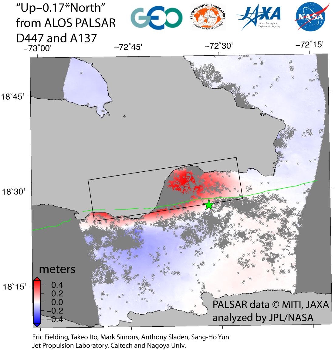 Radar Hebungsmessungen Haiti