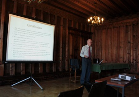 Wilsons Vortrag im Alten Rathaus, Lindau