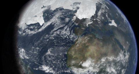 Die Erde während des letzten glazialen Maximums (Nichtgeologen sagen: Eiszeit) vor rund 20.000 Jahren (Ittiz, Wikimedia Commons, CC-BY-SA 3.0 unported)