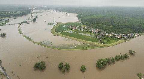 Hochwasser in Erlln