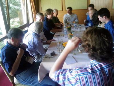 Nobelpreisträger-Tagung Lindau 2010 Laureaten interviewen Doktoranden